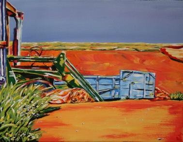 "Dog Days. $200. 11""x14"" gallery wrap canvas"