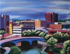 "Sioux Falls. $80. 11""x14"" gallery wrap canvas"