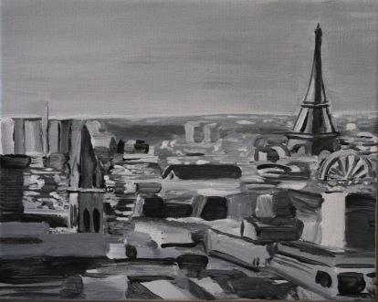Paris en Blanc et Noir. $60